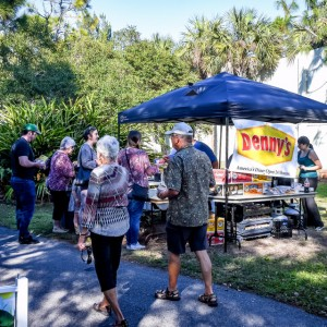 Denny's, our sponsor for picnic fare along with Suncoast Beverage | Brick by Brick Picnic at Lakes Regional Park, 03-18-2018