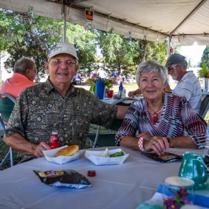 Some of our valued park patrons came to see us | Brick by Brick Picnic at Lakes Regional Park, 03-18-2018