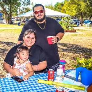 Family time in the garden | Brick by Brick Picnic at Lakes Regional Park, 03-18-2018