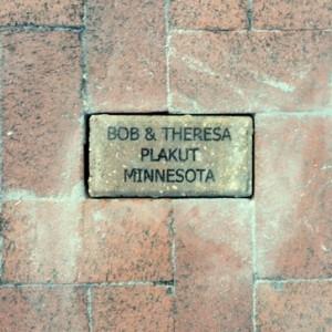 Bob & Theresa Plakut - brick at the Train Museum at Lakes Park, Fort Myers, FL