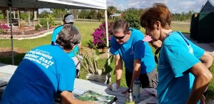 """Lee County Parks & Rec Volunteers keep the park in tip-top shape. The Fragrance Garden has a team that propagates plants and sells them to the public one Wednesday morning per month during """"season""""."""