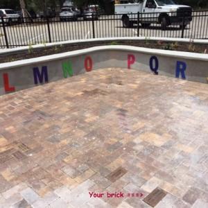 Bricks installed at Lakes Park in Fort Myers, FL - DEBACKER