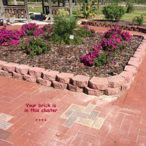 Bricks installed at Lakes Park in Fort Myers, FL - MULTIPLE