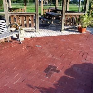 Bricks Installed at Lakes Park June 2018  Locator brick for Rose Garden