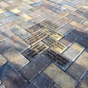 Bricks Installed at Lakes Park June 2018  CHILDRENS GARDEN: SPECHT - MOORE - BINNING - DOROW - SZEMIK