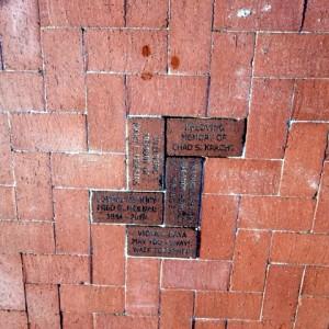 Bricks Installed at Lakes Park June 2018 Rose Garden - SPECHT - SMYTH - MOLNAR - STANLEY