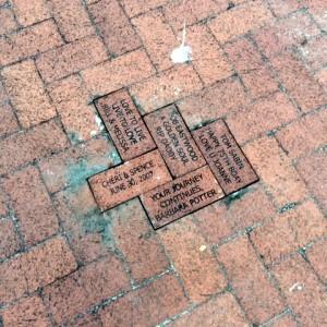 Bricks Installed at Lakes Park June 2018 Train Museum - BOYRER - LAWRENCE - SABIN - BLANCHARD - SMITH