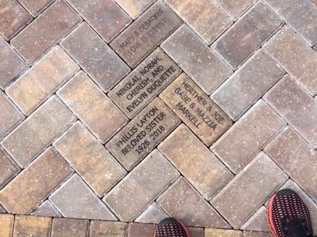 Bricks installed in Children's Garden