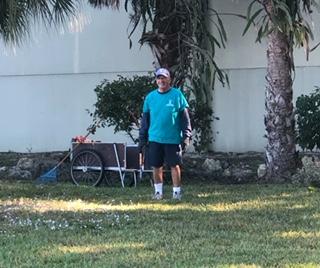 Volunteer work day in the Children's Garden at Lakes Park Fort Myers FL