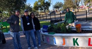 Work Day in the Lakes Park Children's Garden, Fort Myers FL