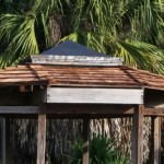 Gazebo in the cactus garden at Lakes Park Fort Myers FL