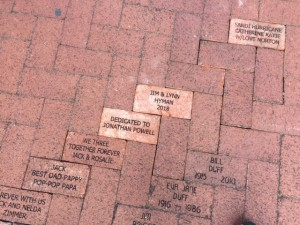 Pavers donated near the Train Museum Lakes Park Fort Myers FL