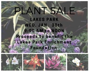 Plant sale in the propagation and potting area of the Fragrance Garden to be held Wednesday January 30th, 2019, 9:00 AM to Noon