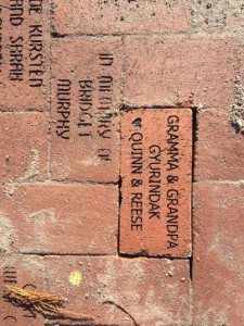 Brick installed at the Train Museum, installed 1/22/2019 - thank you, Nicole Gyurindak