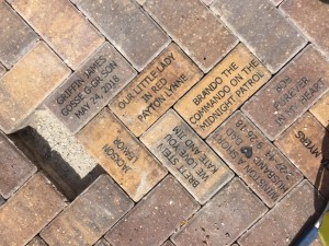 Bricks donated to the Childrens Garden at Lakes Park by Kate Neuman, James Anna Gosse, Denise Houghtaling, and Amanda Leavor