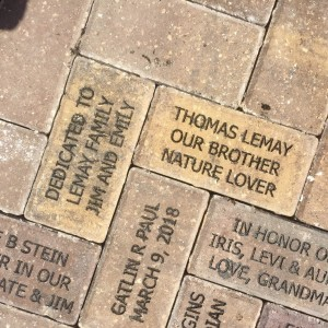 Bricks donated to the Children's Garden at Lakes Regional Park by James LeMay