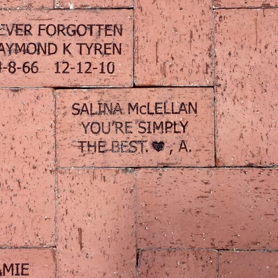 Brick donated to Rose Garden at Lakes Regional Park by Alexis Rothring