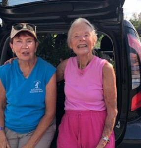 Kathy Busick and Sue Moore, intrepid gardeners at Lakes Park