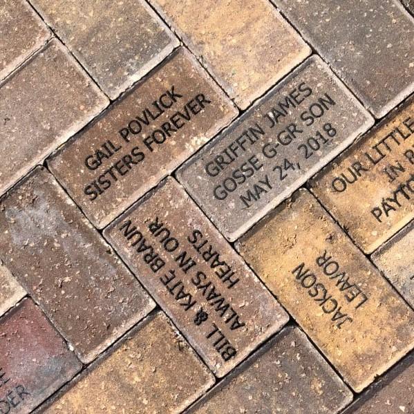 Bricks dedicated in the Children's Garden by Barbara Bellino - thank you!