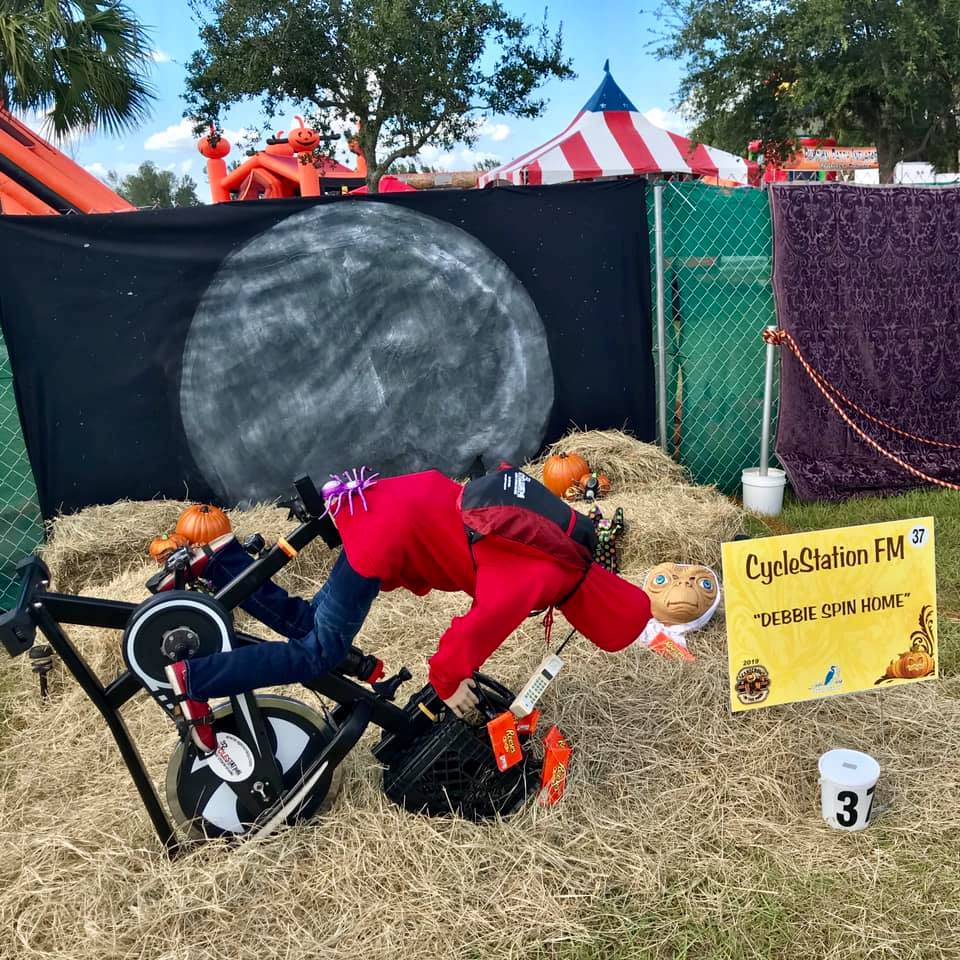 """Best Business/Organization Created Display: CycleStation Fort Myers, """"Debbie Phone Home"""""""