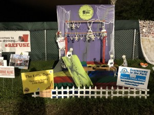 """Scarecrows in the Park - Best Business/Organization Created Display: The Little Gym, """"Seriously Spooky Little Gym"""""""