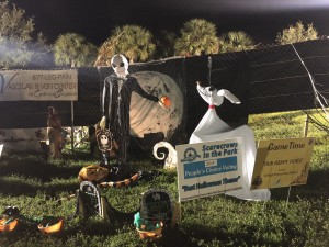 """Scarecrows in the Park - Best Halloween Theme: Lehigh Elementary School, """"Our Happy Place"""", sponsored by GameTime"""