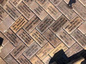 Bricks installed in the Children's Garden February 29th 2020