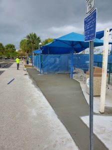 The recent park closure enabled Parks & Rec to make certain repairs while the public was away, including new concrete at the Parks's splash pads.