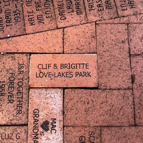 Brick dedication from Clif Adams