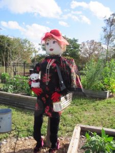 BETSY is a great example of a single scarecrow figure secured to a pole or post.